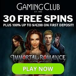 Get 30 Free Spins No Deposit Bonus To Gamingclub Com Casino