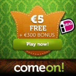 ComeOn Casino 10 Freespins, €7 GRATIS - No Deposit Required!