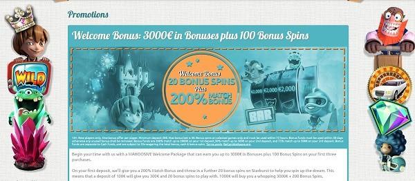 Generous Bonus Offers