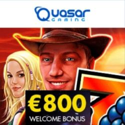Quasar Gaming Casino Review 800€ free welcome bonus