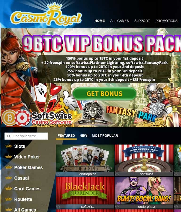 CasinoRoyal.one Free Spins
