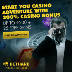 BetHard Casino 200% free bonus & 25 free spins - no deposit required