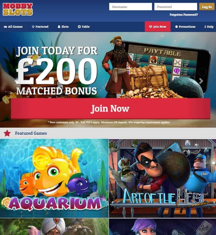 Mobby Slots Casino Free Spins Bonus