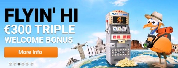$300 welcome bonus to Emu