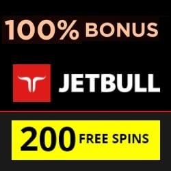 Jetbull Casino 200 free spins + 100% free bonus + €10 free bet