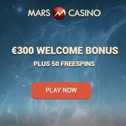 Mars Casino 50 free spins and €300 or 3 Bitcoins (BTC) free bonus
