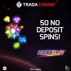 Trada Casino 50 gratis spins + €300 free bonus + 50 free spins