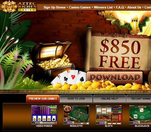 Aztec Riches Casino Online Review