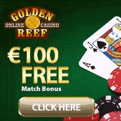 Golden Reef Casino 50 free spins and $100 free bonus on deposit