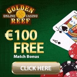 Golden Reef Casino 50 free spins and $100 free bonus on deposit