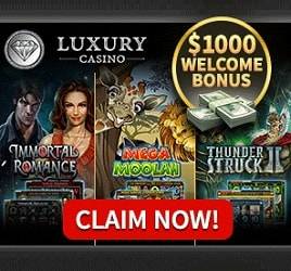 Luxury Casino - 20 free spins no deposit and €1000 free bonus