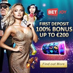 BETJOY Casino 25 free spins bonus - no deposit required!