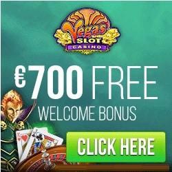Vegas Slot Casino 100 free spins + 200% up to €700 free bonus