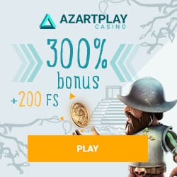 AzartPlay (Aplay Casino) 300% bonus + 200 free spins for new players