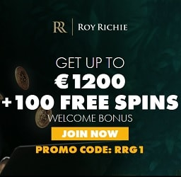 Roy Richie Casino Review   €1200 free bonus and 100 free spins