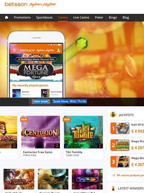 Casino, Sportsbook, Bingo, Live Dealer, Poker, Scratchcards, Roulette, Blackjack, Baccarat