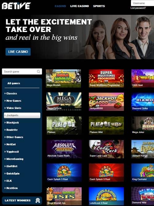 Betive Casino free bet bonus
