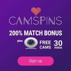 CamSpins Casino - free spins, cash bonuses, and sexy cam show!