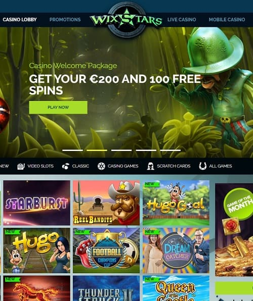 Wixstars.com Casino free play