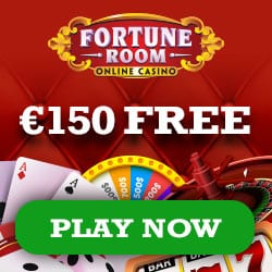 Fortune Room Casino 150% bonus up to €150 and 100 free play spins