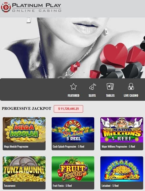 Platinum Play Casino free spins bonus review