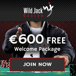 Wild Jack Casino €600 welcome bonus and 100 free spins
