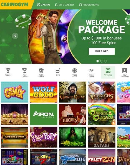CasinoGym Casino Review