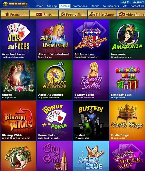 Win A Day Casino - free bonus codes