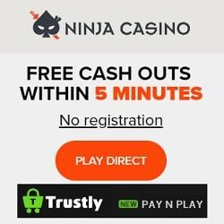 Ninja Casino [Trustly login, no registration] - Gratis Spins & Free Bonus