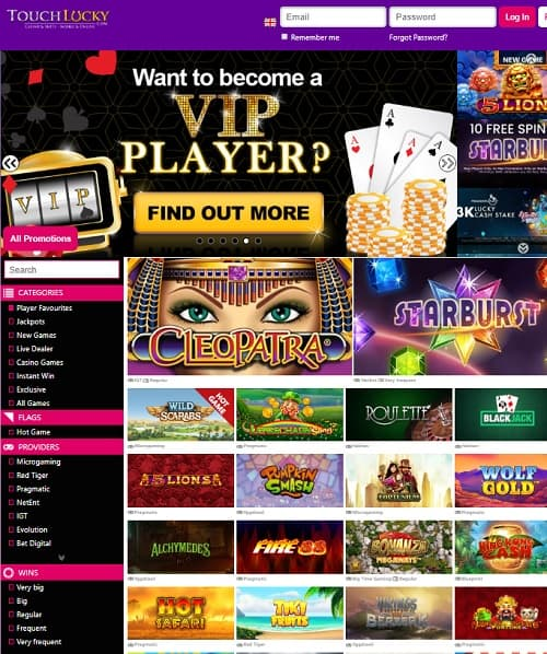 Touch Lucky free spins bonus