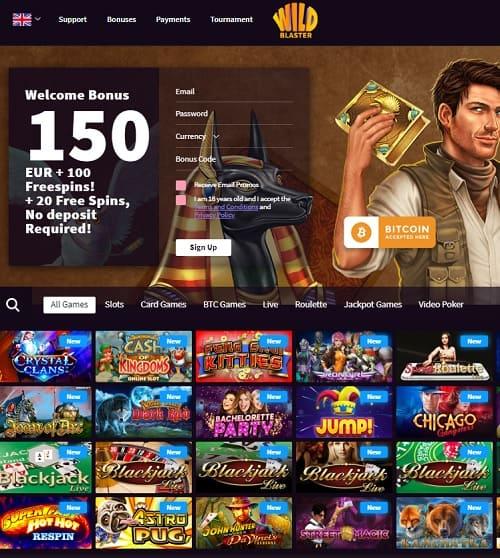 Wild Blaster Casino Free Bonus