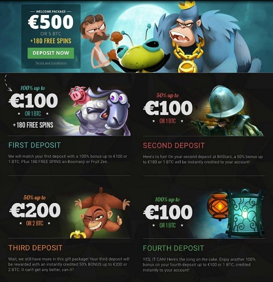 200 free spins and 5 Bitcoin welcome bonus