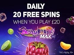 20 gratis spins bonus