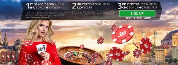 Welcome bonus: 1200 EUR and 100 free spins