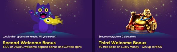 Free Cash and Free Spins bonuses for new players