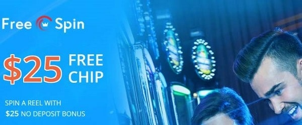 $25 FREE CHIP (no deposit required) at Free Spin Casino!