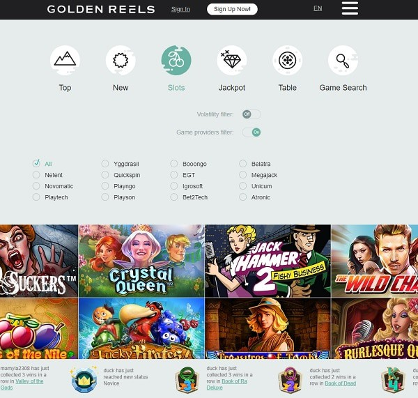 Golden Reels Casino Online and Mobile Overview