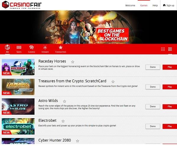 CasinoFair Online Casino by FunFair