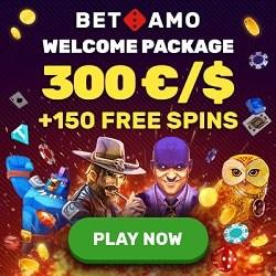 BETAMO - 150 free spins & 200% bonus after deposit