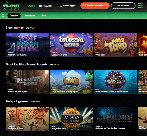 Welcome toIn And Out Bet Casino