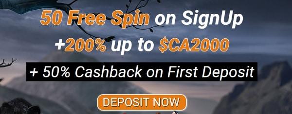 All Cash Back Casino 50 gratis spins bonus