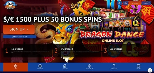 Collect 1500 EUR/USD bonus and 50 free spins on deposit