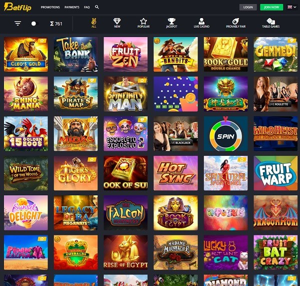 About Betflip Crypto Casino - full review