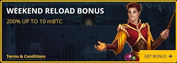 Reload Bonus every weekend