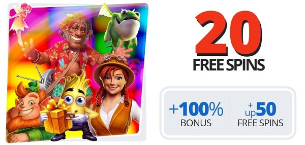 Play 20 free spins now!