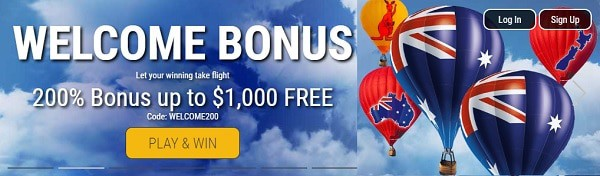 200% up to $1,000 welcome bonus + 50 free spins on first deposit