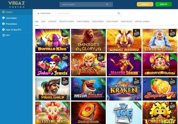 VegazCasino.com the best bitcoin casino!