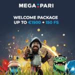 Megapari Casino & Sportsbook 100% bonus and 150 free spins