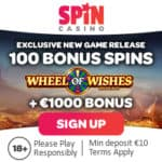 SPIN PALACE - 100 Exclusive Free Spins on Wheel of Wishes
