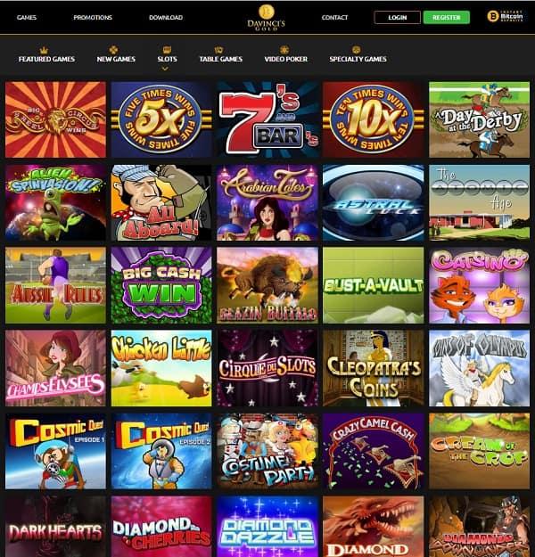Da Vinci's Gold Casino Review